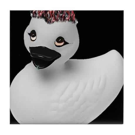 Goth Duck Tile Coaster