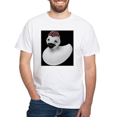 Goth Duck White T-Shirt