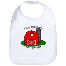 LIFE IS BETTER AT THE FARM Bib