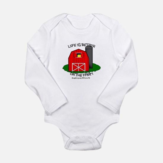 LIFE IS BETTER AT THE FARM Long Sleeve Infant Body