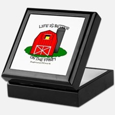 LIFE IS BETTER AT THE FARM Keepsake Box