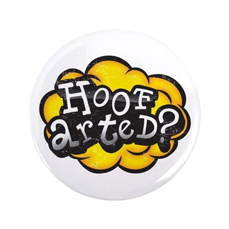 "Hoof Arted? 3.5"" Button (100 pack)"