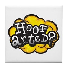 Hoof Arted? Tile Coaster