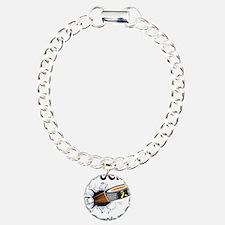 Puck Endometriosis Charm Bracelet, One Charm