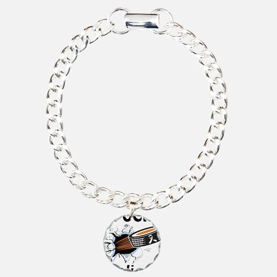 Puck Scoliosis Charm Bracelet, One Charm