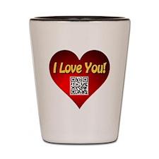 I Love You Magic Heart Shot Glass