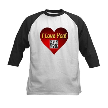 I Love You Magic Heart Kids Baseball Jersey