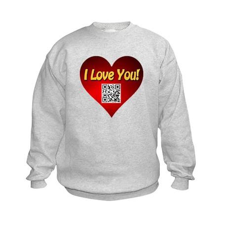 I Love You Magic Heart Kids Sweatshirt