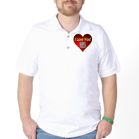 I Love You Magic Heart Golf Shirt