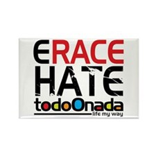 Erace Hate Rectangle Magnet