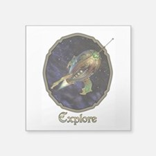 "Explore Square Sticker 3"" x 3"""