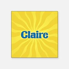 "Claire Sunburst Square Sticker 3"" x 3"""