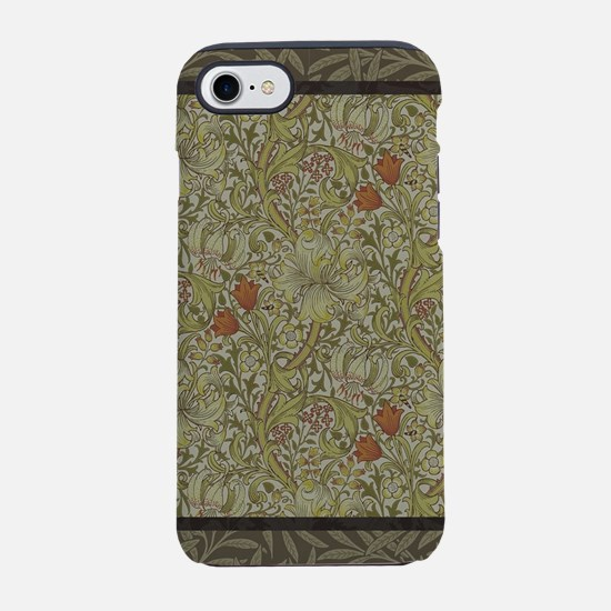 William Morris Floral lily wil iPhone 7 Tough Case