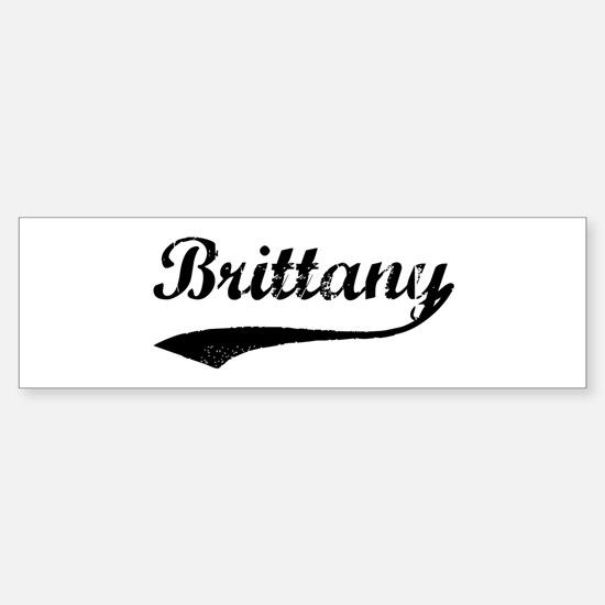 Vintage: Brittany Bumper Bumper Bumper Sticker