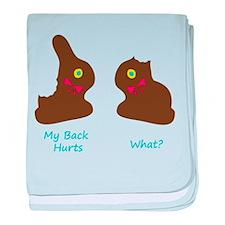 Chocolate BunniesFunny.png baby blanket