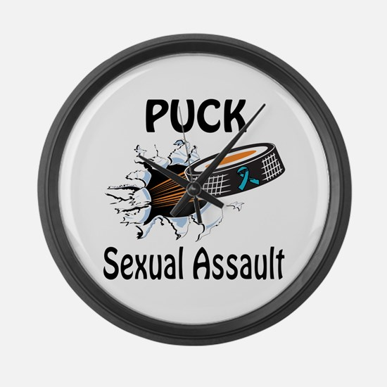 Puck Sexual Assault Large Wall Clock