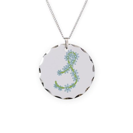 Monogram S Necklace Circle Charm