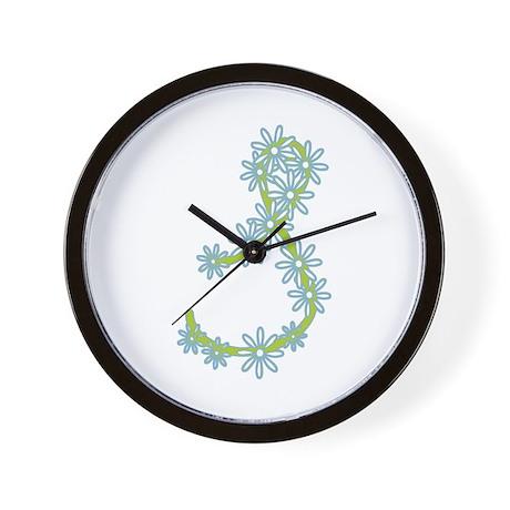 Monogram S Wall Clock