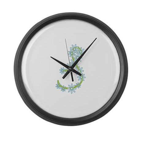 Monogram S Large Wall Clock