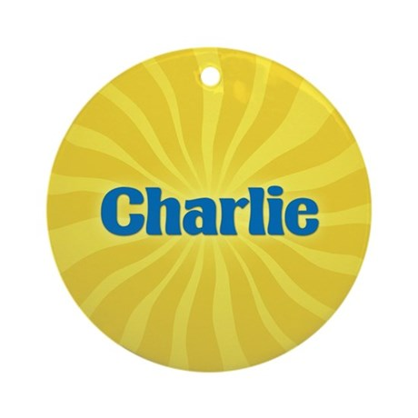 Charlie Sunburst Ornament (Round)