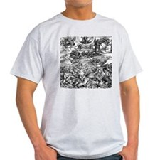 Four Avenging Angels Durer 14 Ash Grey T-Shirt