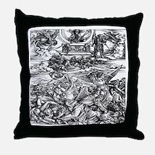 Four Avenging Angels Durer 14 Throw Pillow