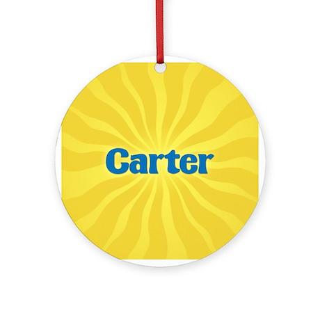 Carter Sunburst Ornament (Round)