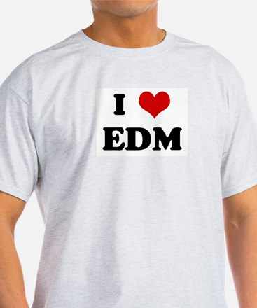 I Love EDM Ash Grey T-Shirt