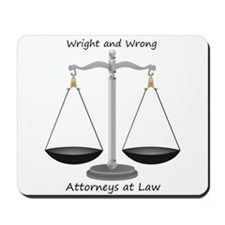 Wright and Wrong Law Mousepad