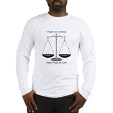 Wright and Wrong Law Long Sleeve T-Shirt