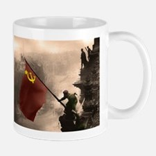 Russian Flag over the Reichstag in Color Mug