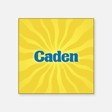 "Caden Sunburst Square Sticker 3"" x 3"""