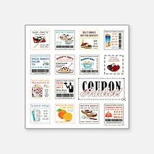 """COUPON ADDICT! Square Sticker 3"""" x 3"""""""