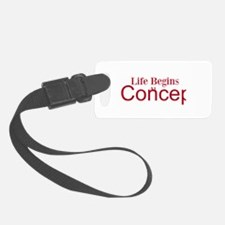 Life begins at conception gifts Luggage Tag