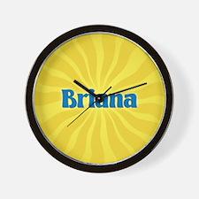Briana Sunburst Wall Clock