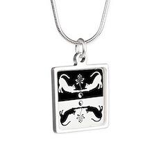 Feline Zen Silver Square Necklace