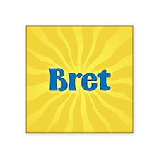 """Bret Sunburst Square Sticker 3"""" x 3"""""""