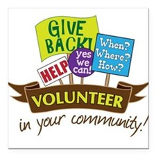 "In Your Community Square Car Magnet 3"" x 3"""