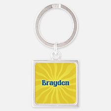 Brayden Sunburst Square Keychain