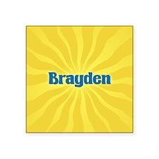 """Brayden Sunburst Square Sticker 3"""" x 3"""""""
