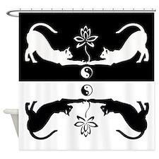 Feline Zen Shower Curtain