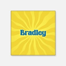 "Bradley Sunburst Square Sticker 3"" x 3"""