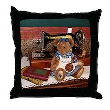 Bluebeary Bear with Mandolin Throw Pillow