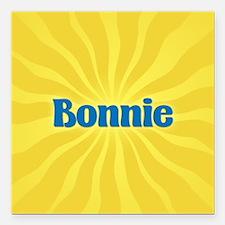 """Bonnie Sunburst Square Car Magnet 3"""" x 3"""""""