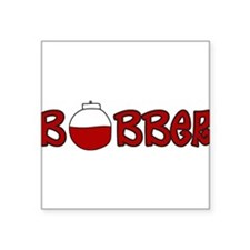 "Bobber Square Sticker 3"" x 3"""