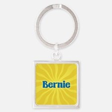 Bernie Sunburst Square Keychain