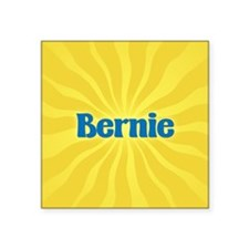 "Bernie Sunburst Square Sticker 3"" x 3"""