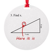 Find x Math Problem Ornament