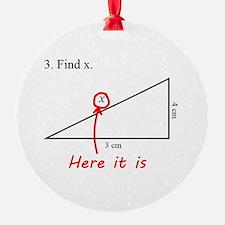 Find x Math Problem Ornament
