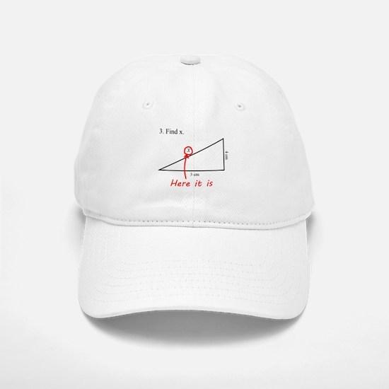 Find x Math Problem Baseball Baseball Cap